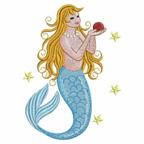 Beautiful mermaid embroidery designs machine