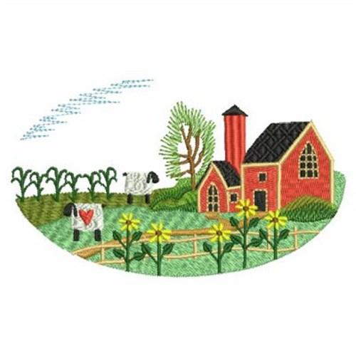 country farm scene embroidery designs machine embroidery