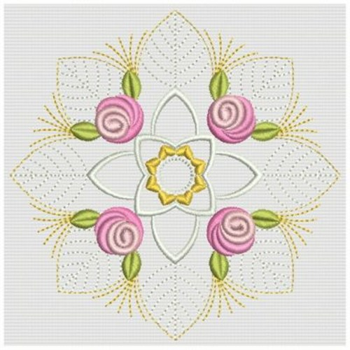 Bullion Rose Block Embroidery Designs Machine Embroidery Designs At