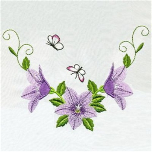 Butterflies Flowers Embroidery Designs Machine Embroidery Designs