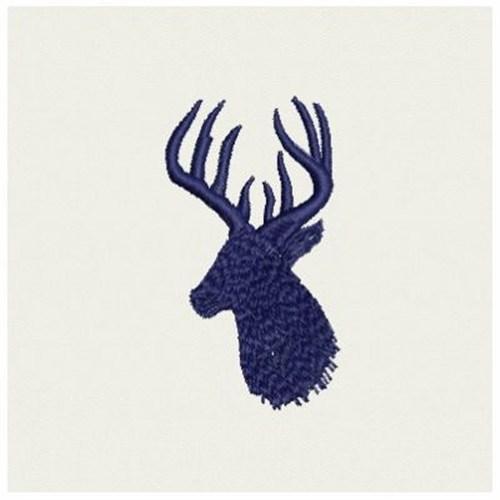 Deer head silhouette embroidery designs machine