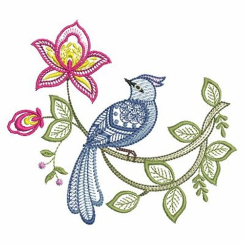 Jacobean Bird Embroidery Designs Machine Embroidery Designs At