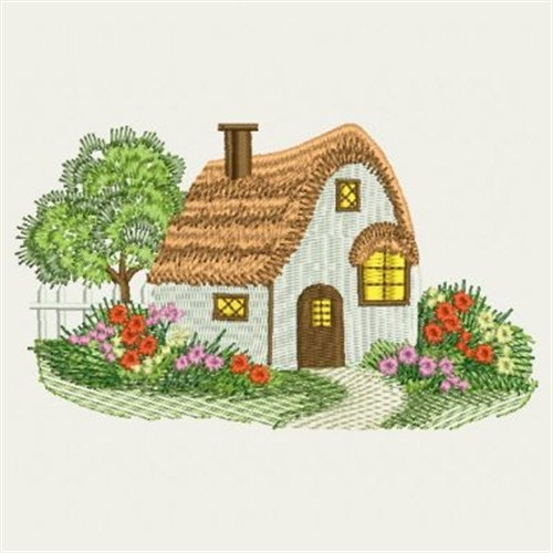 Small cottage embroidery designs machine