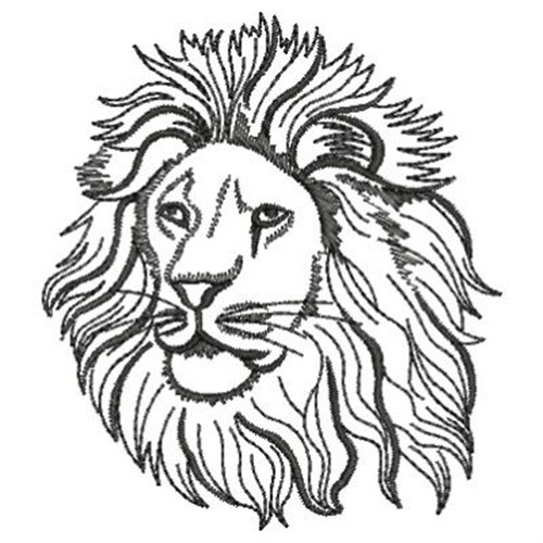 lion head outline embroidery designs, machine embroidery designs