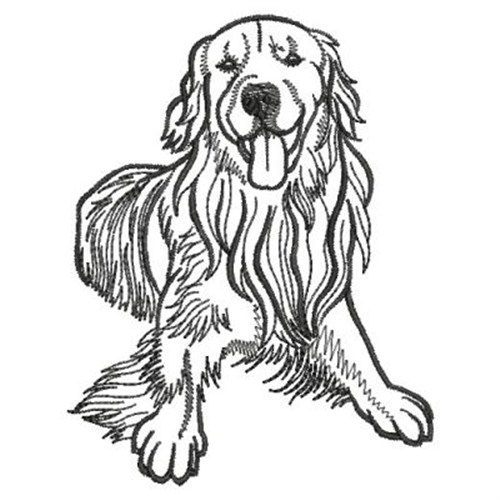 golden retriever outline embroidery designs machine embroidery designs at. Black Bedroom Furniture Sets. Home Design Ideas
