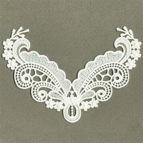 Fsl curly neckline embroidery designs machine