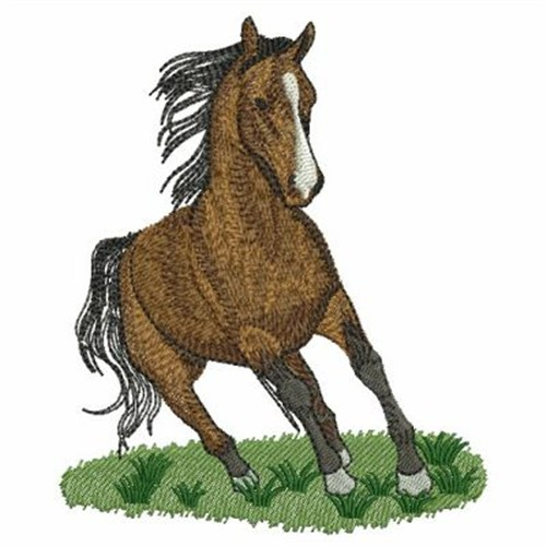 running horse embroidery designs machine embroidery