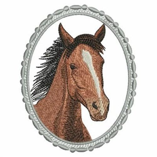 Horse head embroidery designs machine
