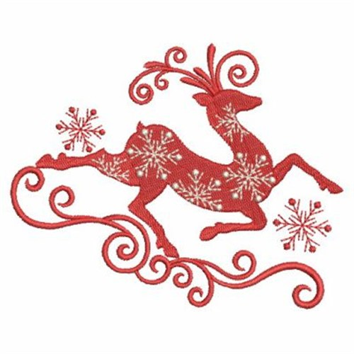 Fancy Reindeer Embroidery Designs Machine Embroidery Designs At
