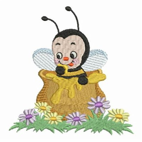 Cute honey bee embroidery designs machine