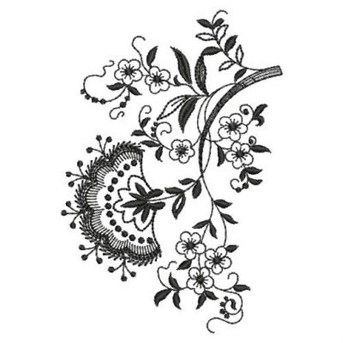 70a048540a443 Blackwork Flowers Embroidery Designs, Machine Embroidery Designs at ...