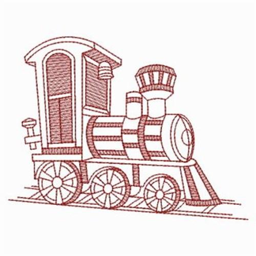 Redwork Train Engine Embroidery Designs Machine Embroidery Designs