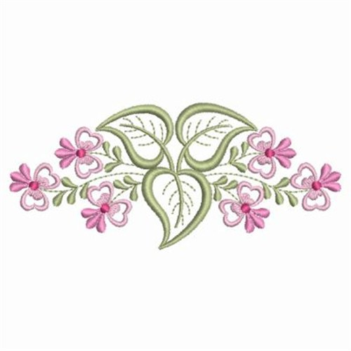 Dainty rose border embroidery designs machine