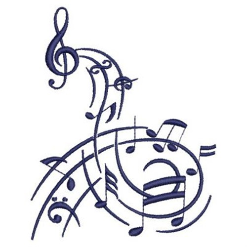 Music Notes Swirl Embroidery Designs Machine Embroidery Designs At