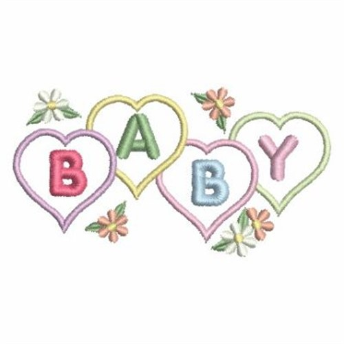 Baby hearts embroidery designs machine