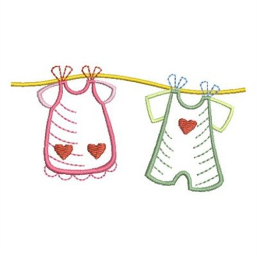 Baby clothes line embroidery designs machine