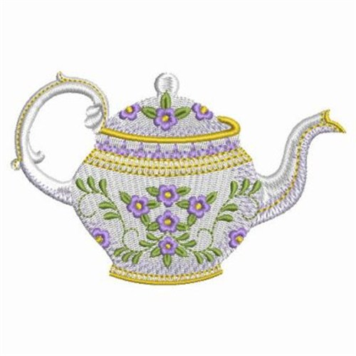 Antique Teapot Embroidery Designs Machine Embroidery