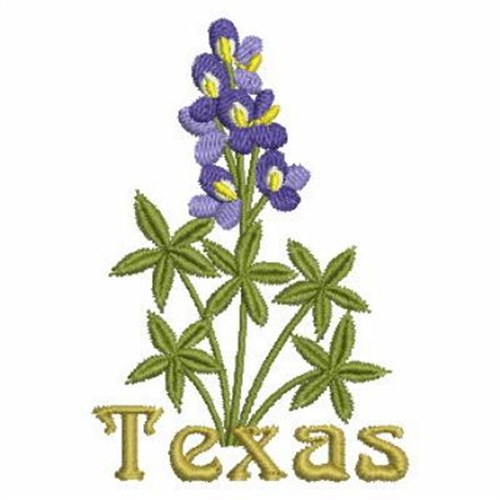 Texas State Flower Embroidery Designs Machine Embroidery Designs