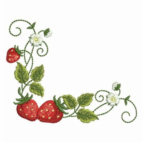 Strawberry Corner Embroidery Designs Machine Embroidery Designs At