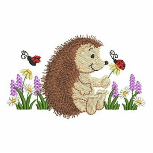 Hedgehog And Ladybug Embroidery Designs Machine Embroidery Designs