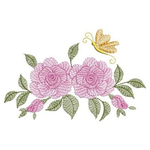 Vintage rose border embroidery designs machine