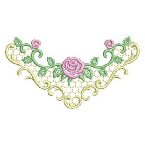 Satin rose neckline embroidery designs machine