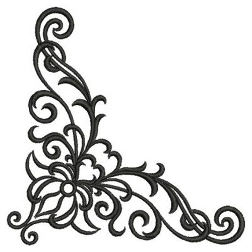 Corner Scroll Embroidery Designs Machine Embroidery