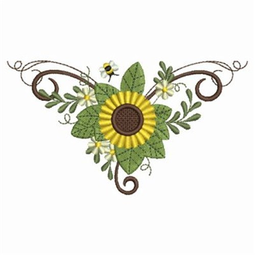 Sunflower Motif Embroidery Designs Machine At