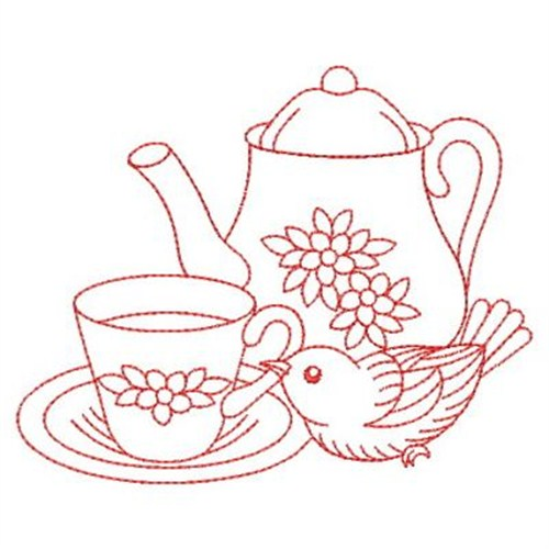 Tea Time Machine Embroidery Designs