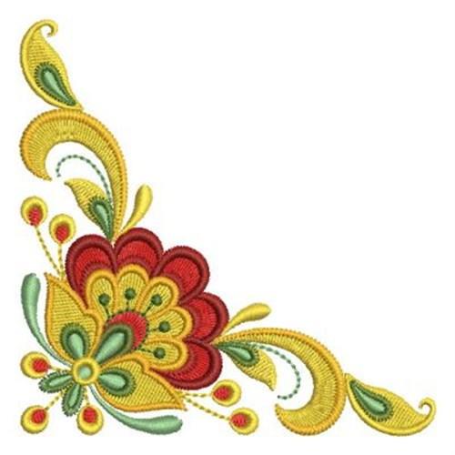 Russian Folk Art Corner Embroidery Design