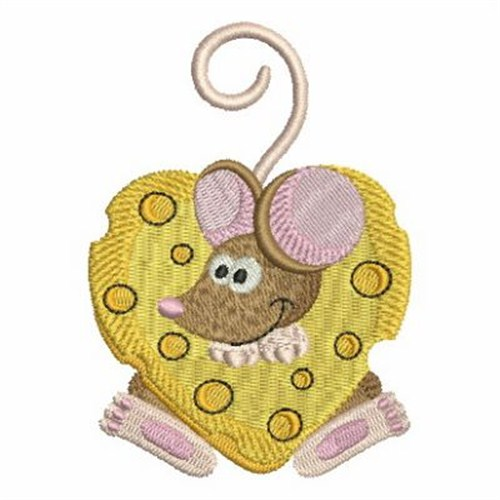 Cheese Heart Mouse Embroidery Designs Machine Embroidery Designs At