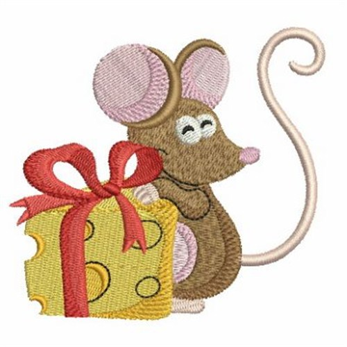 Cheese Gift Mouse Embroidery Designs Machine Embroidery Designs At