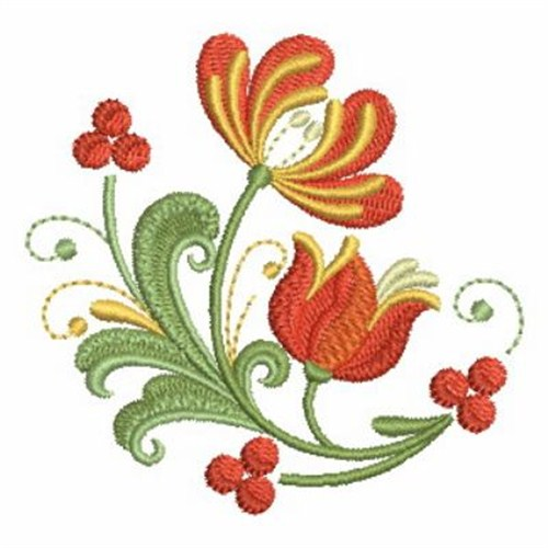 Rosemaling Flowers Embroidery Designs Machine Embroidery Designs At