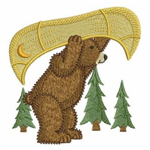 Canoe bear embroidery designs machine