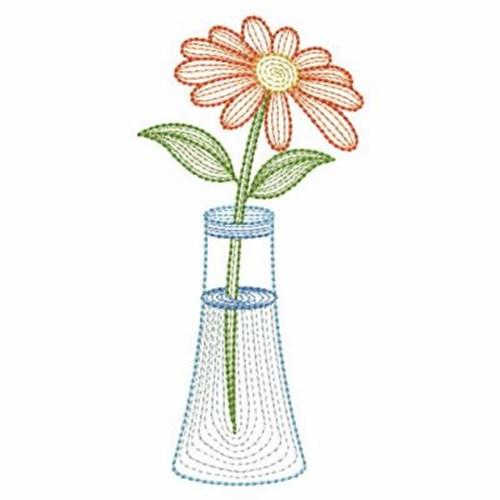 Flower vase embroidery designs machine