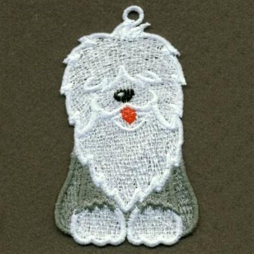 Stand Alone Embroidery Designs : Fsl english sheepdog embroidery designs machine