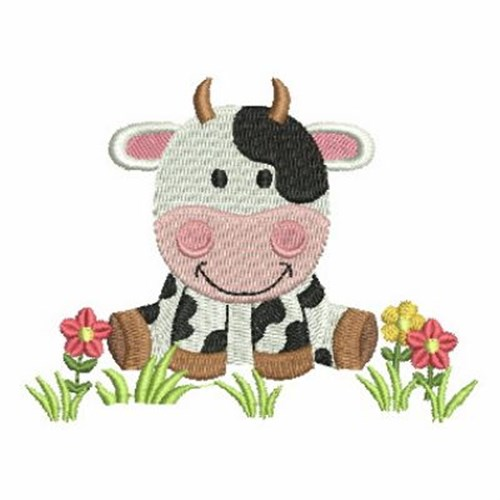 farm animal cow embroidery designs machine embroidery