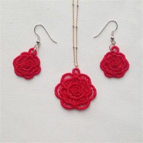 FSL Rose Jewelry Embroidery Designs Machine Embroidery Designs At EmbroideryDesigns.com