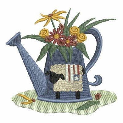 Country garden embroidery designs machine embroidery for Garden embroidery designs