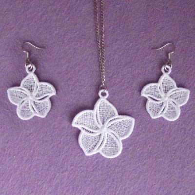 FSL Plumeria Jewelry Embroidery Designs Machine Embroidery Designs At EmbroideryDesigns.com