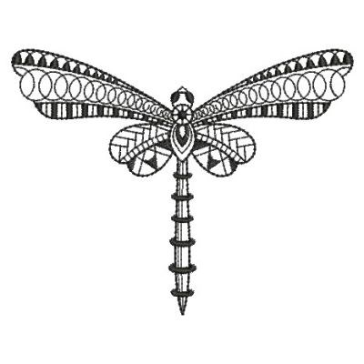 Blackwork Dragonfly Embroidery Designs Machine Embroidery Designs