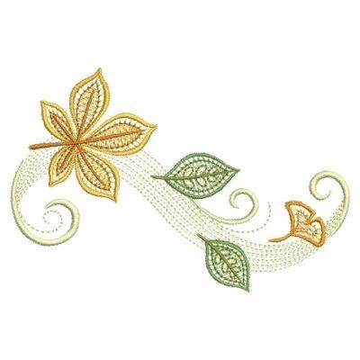 2 sizes Autumn leaves border Machine Embroidery Design