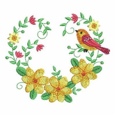 Heart Of Jasmine Blooms Embroidery Designs, Machine