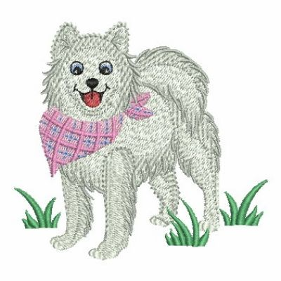 Samoyed Puppy Embroidery Designs Machine Embroidery Designs At