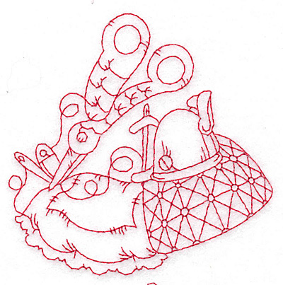 Quilted Pillow Redwork Embroidery Designs Machine Embroidery