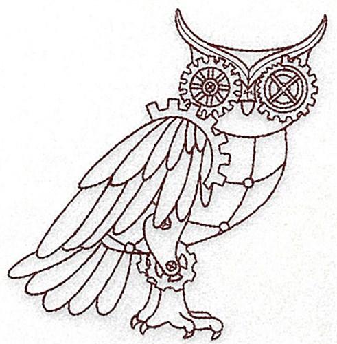 Steampunk Owl Embroidery Designs Machine Designs At