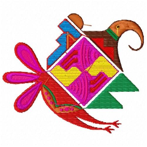 Native american geometric design embroidery designs