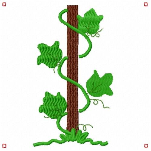 Ivy vine embroidery designs machine at
