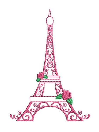 Floral Eiffel Tower Embroidery Designs Machine Embroidery Designs