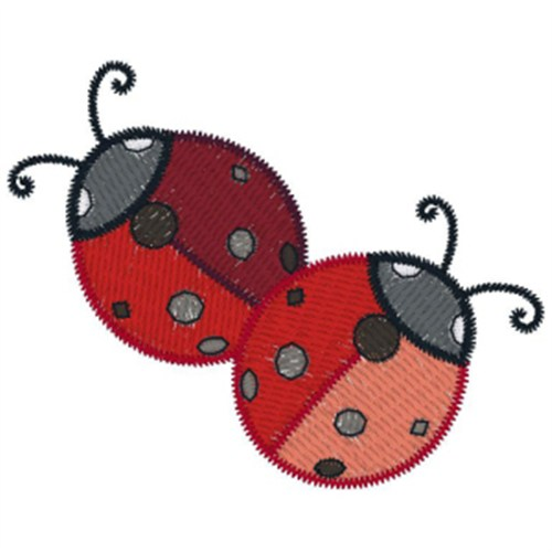 Two Ladybugs Embroidery Designs Free Machine Embroidery Designs At